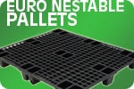 euro nestable export plastic pallets